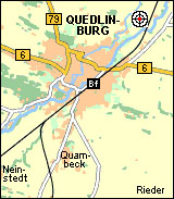 Localisation du camp - Source: http://quedlinburg.speedmap.de/