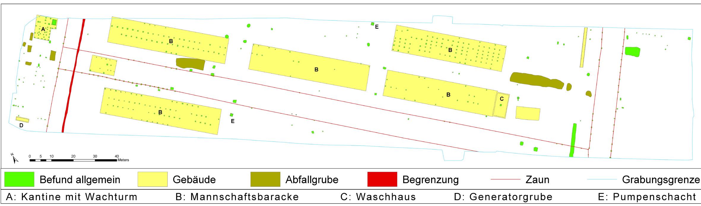 Plan des fouilles