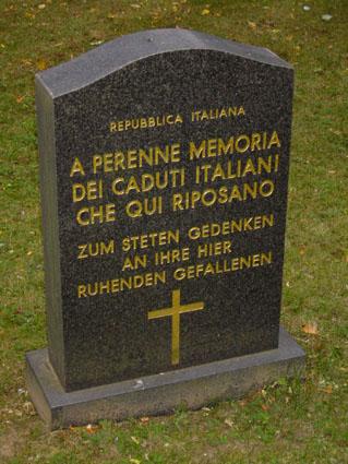 Stèle commémorative italienne