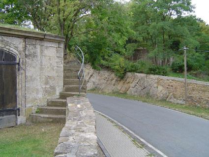 """Route construite par les prisonniers,appelée Arschkerbe """"raie des fesses"""""""