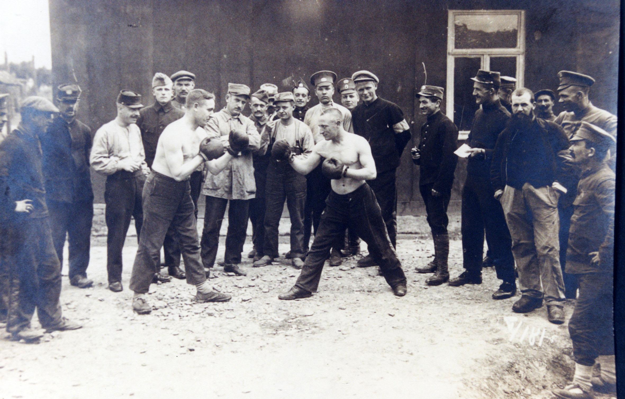 Un combat de boxe