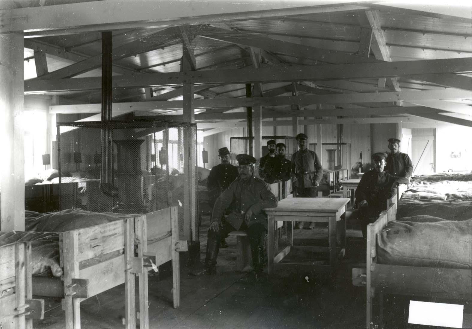 Intérieur d'une baraque