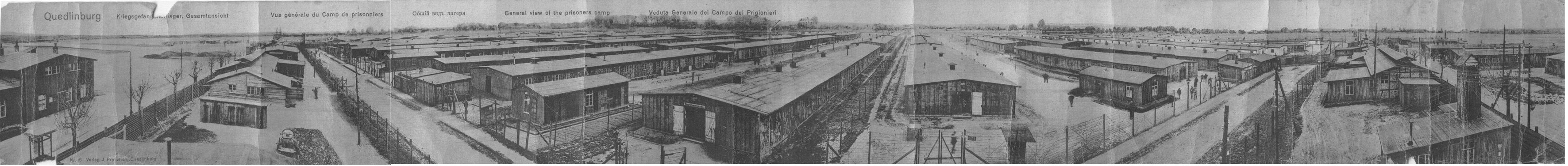 Vue générale du camp de Quedlinburg